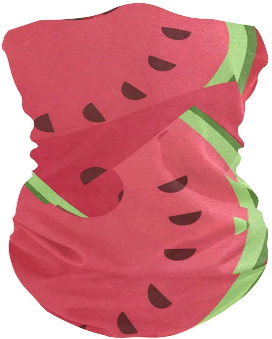 Love beautiful Watermelon Face Mask UV Sun Mask Dust Wind Neck Gaiter Magic Bandana