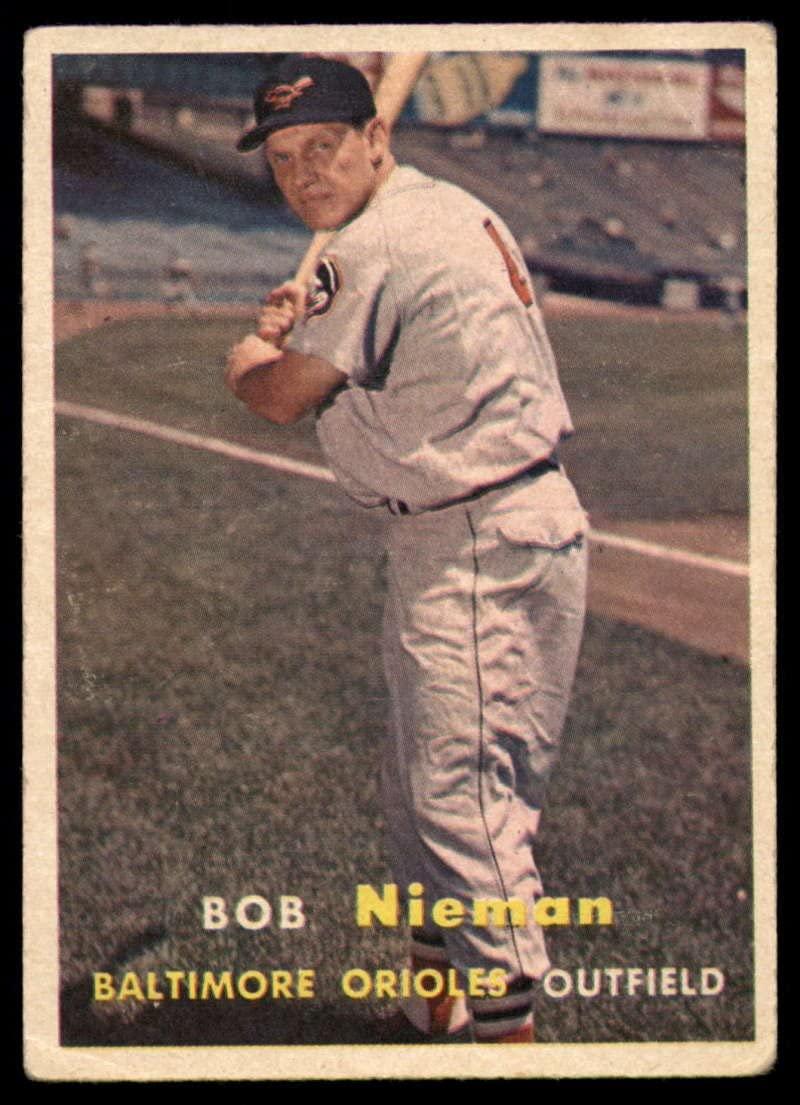 Baseball MLB 1957 Topps #14 Bob Nieman VG Very Good Orioles