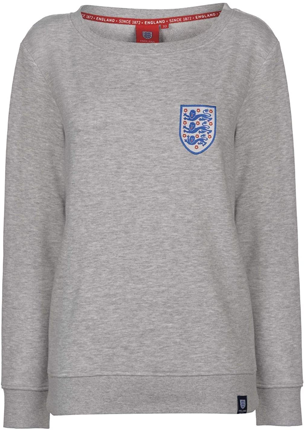 Abercrombie & Fitch FA England Crew Neck Sweatshirt Womens Grey Football Soccer Sweater Pullover Top UK 8 (X-Small)