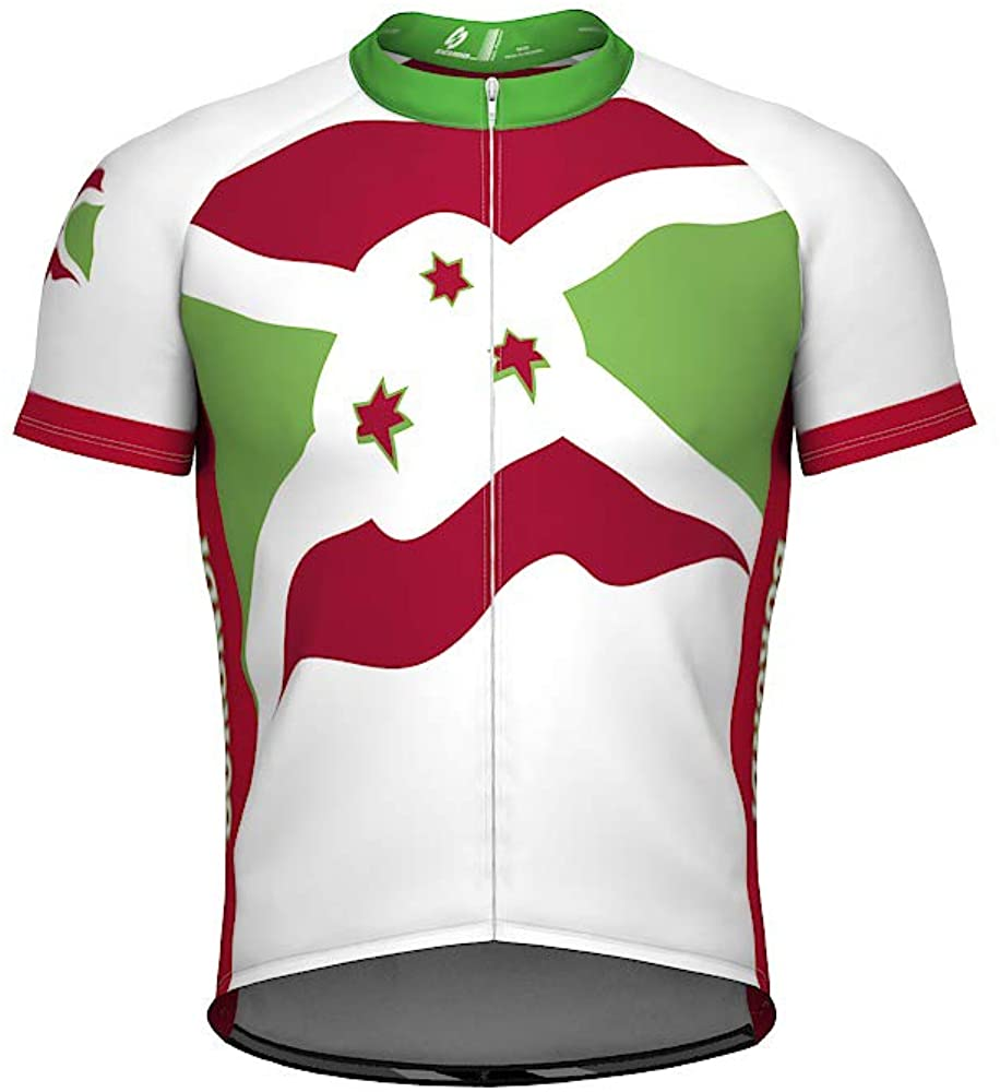 ScudoPro Burundi Emblem Full Zipper Bike Short Sleeve Cycling Jersey for Women