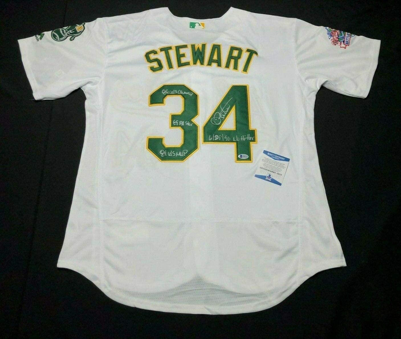 Dave Stewart Signed Athletics Jersey