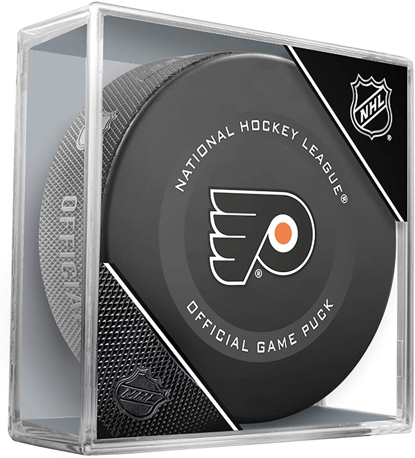 Philadelphia Flyers Official Game Hockey Puck with Holder
