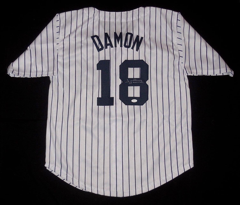Johnny Damon Autographed Jersey - Custom) - Coa! - JSA Certified - Autographed MLB Jerseys