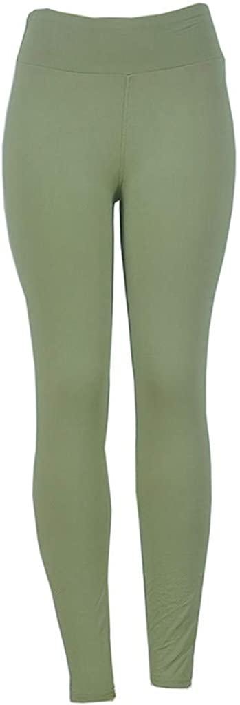 Sayhi Women's Solid High-Waist Hip Bottom Pants Running Fitness Yoga Pants Ombre Seamless Leggings