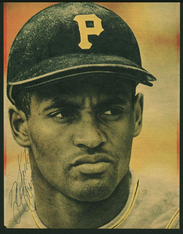 Pirates Roberto Clemente Signed 7x9.5 Magazine Photo & JSA LOAs - PSA/DNA Certified - Autographed MLB Magazines