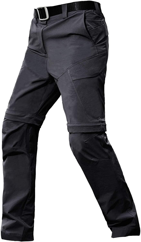 PAVEHAWK Quick Drying Mens Military Detachable Pants Urban Ops Elastic Tactical Cargo Hiking Pants