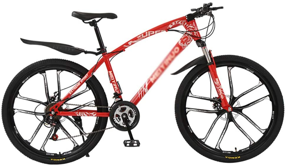 TOPYL Men's and Women's Shift Mountain Bikes,Mountain Bike Bicycle,Dual Disc Brake Shock Absorption Front Suspension