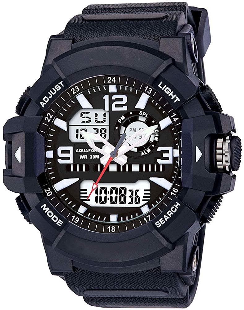 Aqua Force Dual Time Digital/Analog Tactical Combat Watch (30M Water Resistant)