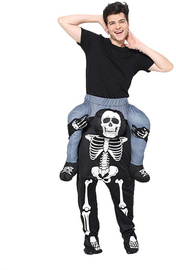 k228 Carry Mascot Me Guy Ride On Skeleton Halloween Costume Ride On Mascot Christmas Party Dress