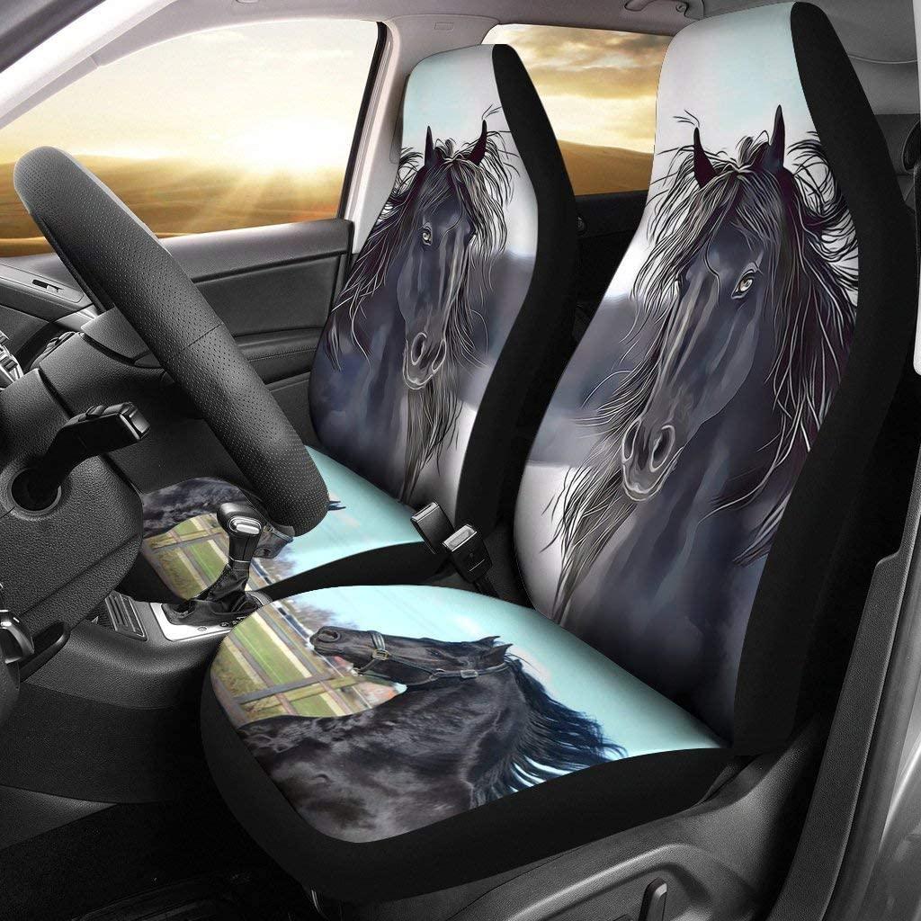Friesian Horse Print Car Seat Covers