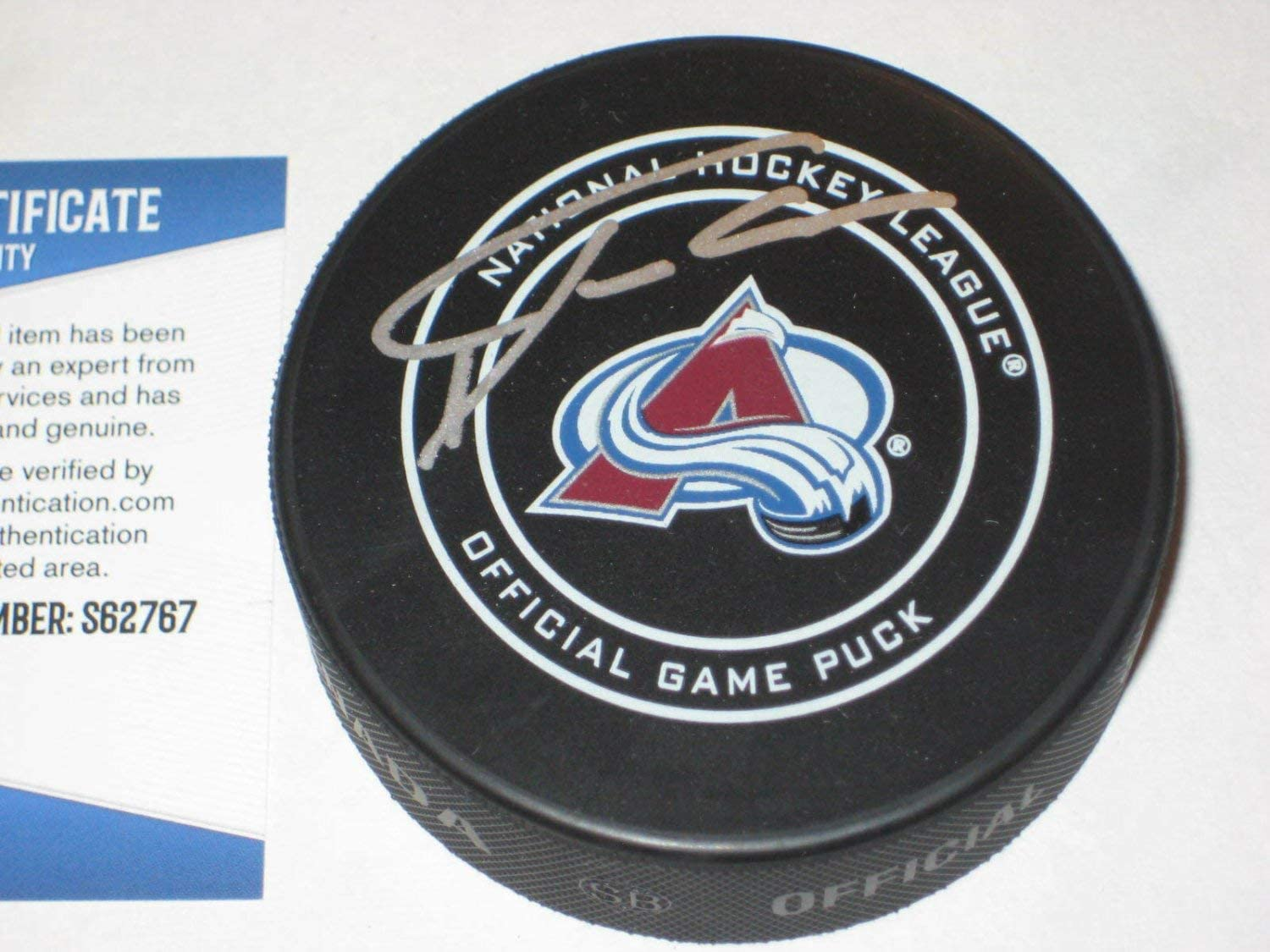 Philipp Grubauer Autographed Signed Colorado Avalanche Official Game Puck With Beckett COA