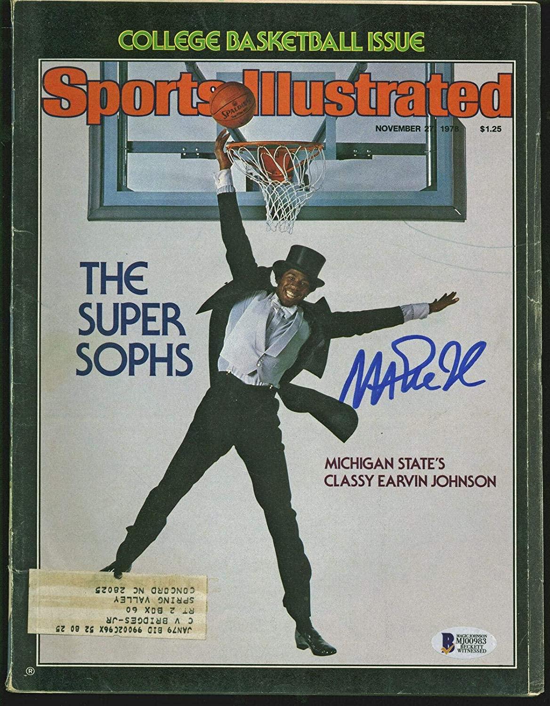 Lakers Magic Johnson Signed Nov. 1978 Sports Illustrated Magazine BAS #MJ00983 - Beckett Authentication