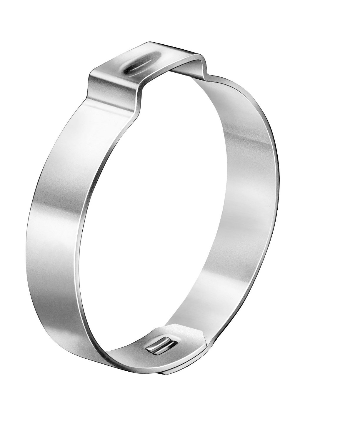Oetiker 10500353 Zinc-Plated Steel Hose Clamp with Mechanical Interlock, One Ear, 7 mm Band Width, Clamp ID Range 52.9 mm (Closed) - 56.0 mm (Open) (Pack of 150)