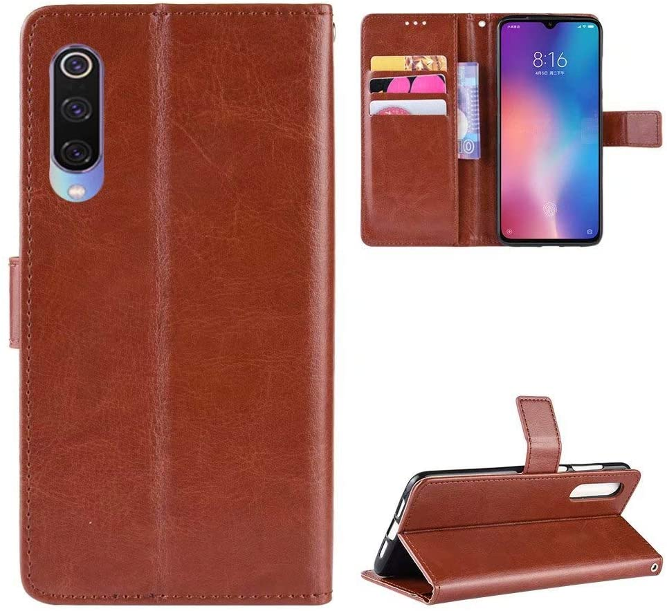 Luckyandery Xiaomi Mi 9 Lite Case,Xiaomi Mi 9 Lite Phone Wallet, PU Leather Stand Card Slots Money Pocket Xiaomi Mi 9 Lite Wallet Case Cover