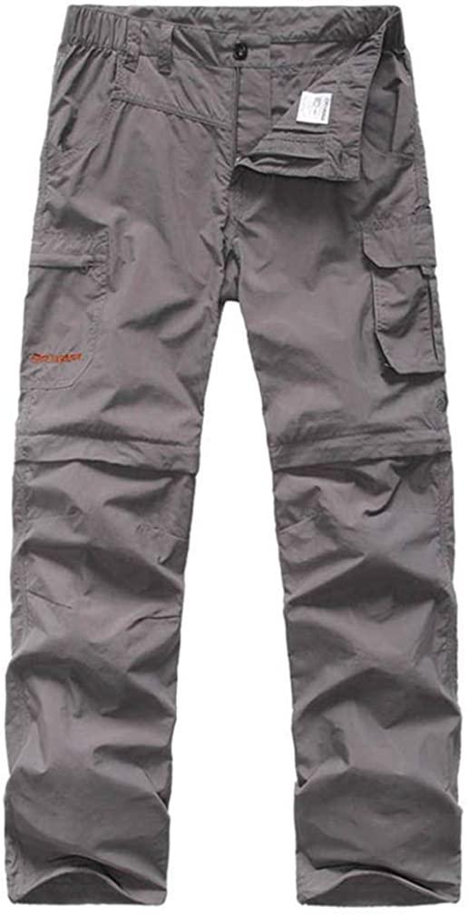 mansmoer Men's Outdoor Wicking Detachable Zip Off Leg Pants Camping Trousers