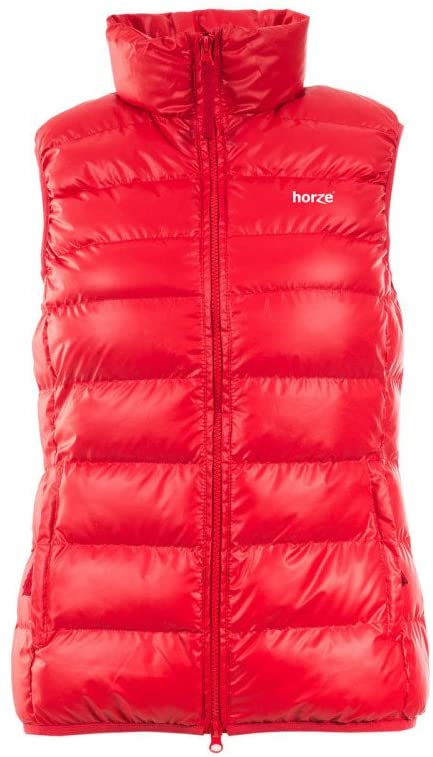 HORZE Luna Girl's Padded Vest Formula One Red 10