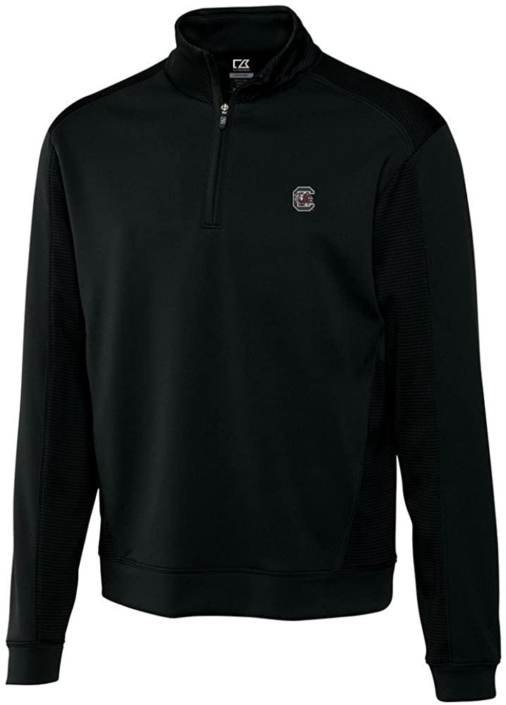 NCAA Men's South Carolina Fighting Gamecocks Black Drytec Edge Half Zip Jacket