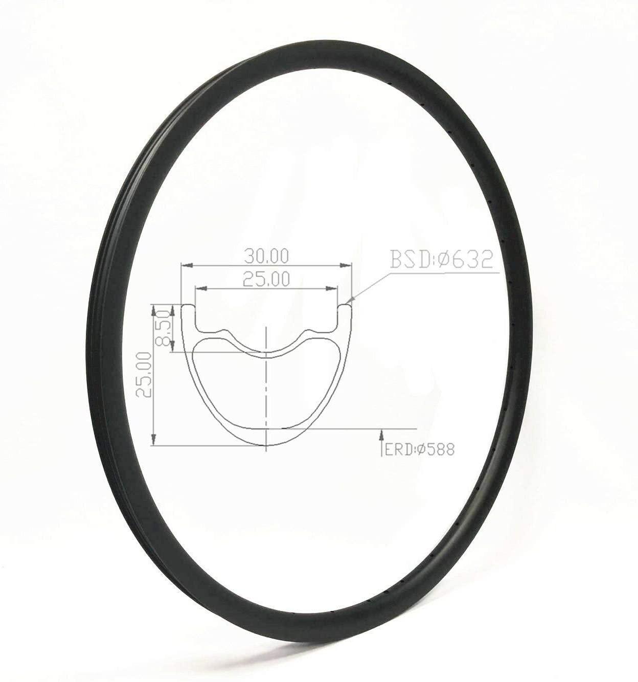 JIMAITEAM Carbon MTB Rims 29 inch 32Hole Carbon Mountain Bike Disc Brake Rim 30mm Width Tubeless XC Rim Carbon Bicycle Rim