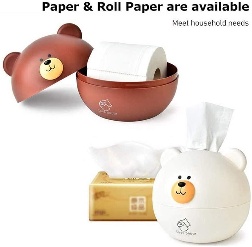 Tissue box Nordic Bear Tissue Box, Dry Wet Tissue Paper Case Holder Tissue Case Napkin Organiser Home Car Office Toilet Vanity Desk Table (color : White, Size : 1715.5cm)