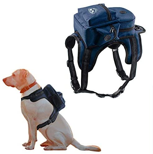 Kaynine Dog Backpack for Travel Camping Walking Training with Adjustable Straps Size Small Medium Large