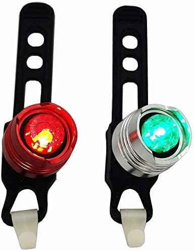 Deals4you Aluminum Portable Marine LED Boating Lights, Green and Red Led Navigation Lights for Boat Bow or Stern, Emergency Backup Safety Lights for Kayak Pontoon Yacht Dinghy