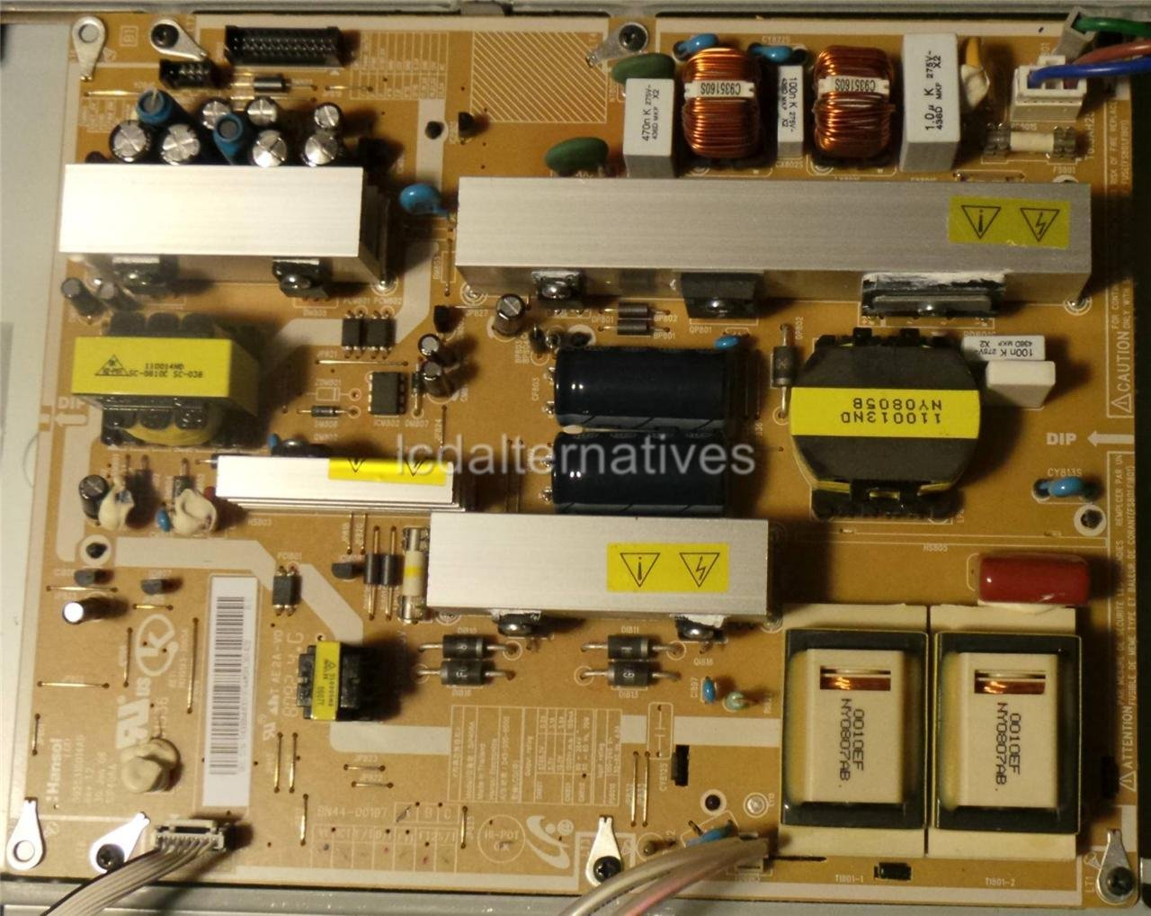 Samsung LN40A530P1F LCD TV Repair Kit, Capacitors Only, Not The Entire Board