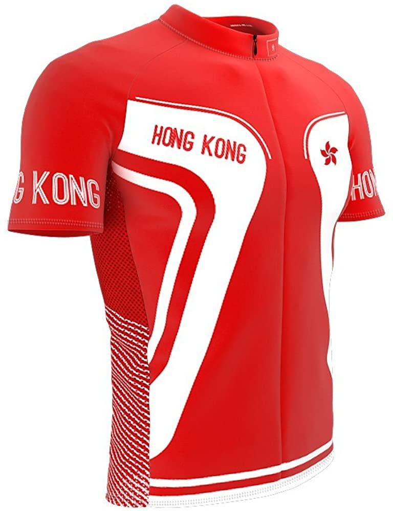 Hong Kong Full Zipper Bike Short Sleeve Cycling Jersey for Men