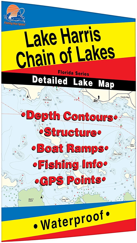 Harris Chain of Lakes Fishing Map