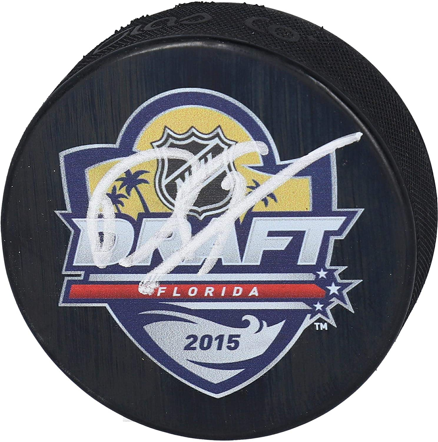 Dylan Strome Chicago Blackhawks Autographed 2015 NHL Draft Logo Hockey Puck - Fanatics Authentic Certified