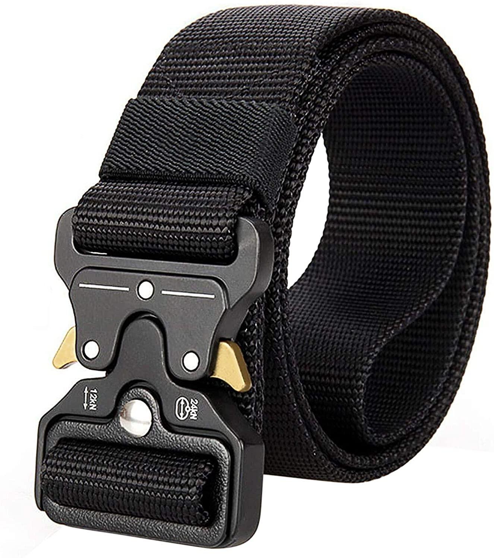 Mens Belt, Military Style Tactical Belt 1.25 Inch Tactical Utility Belt Rigger Belt for Men Women Durable Nylon Web Belt