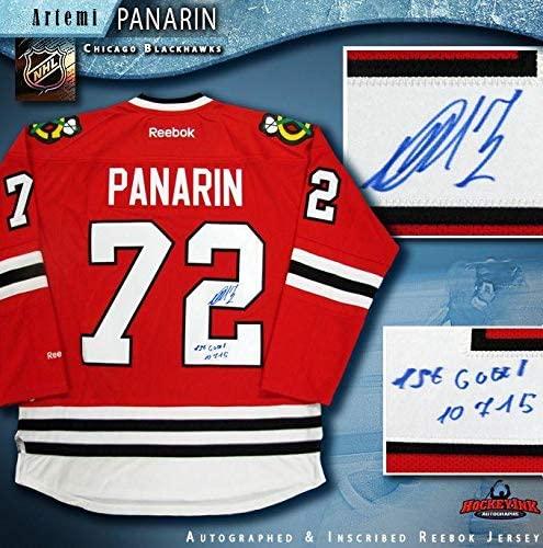 Artemi Panarin Autographed Jersey - Red Reebok 1st Goal - Autographed NHL Jerseys
