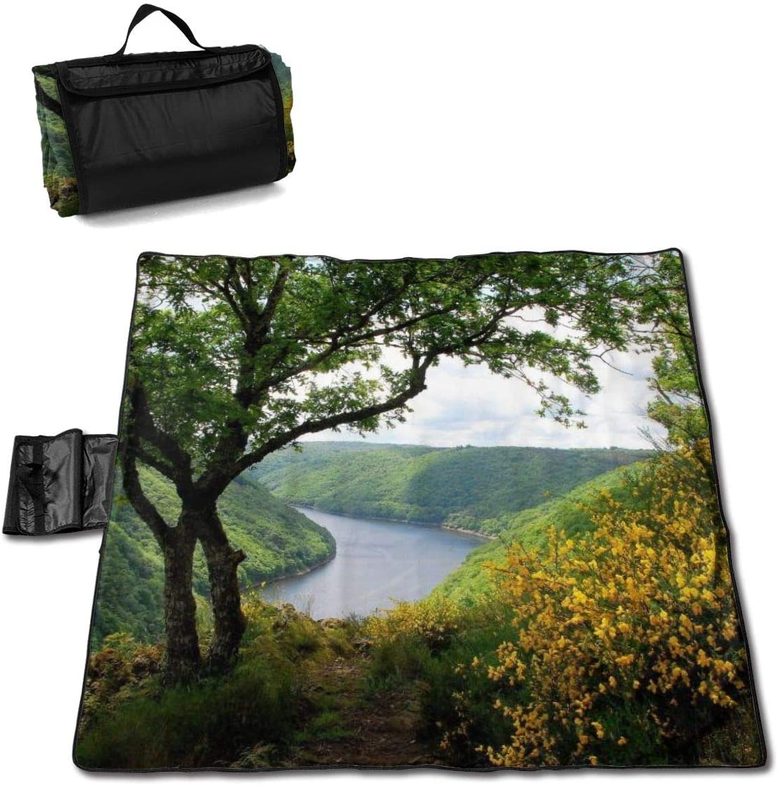 Extra Large Picnic Outdoor Blanket Dual Layers Water-Resistant Nature (456) Handy Mat Tote
