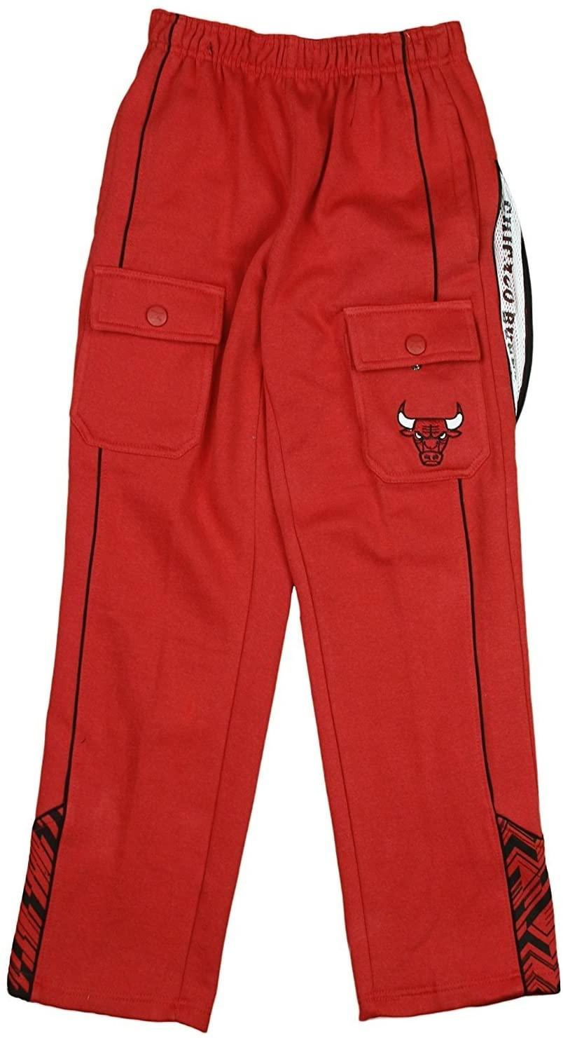 Zipway Chicago Bulls NBA Big Boys Cargo Fleece Pants, Red