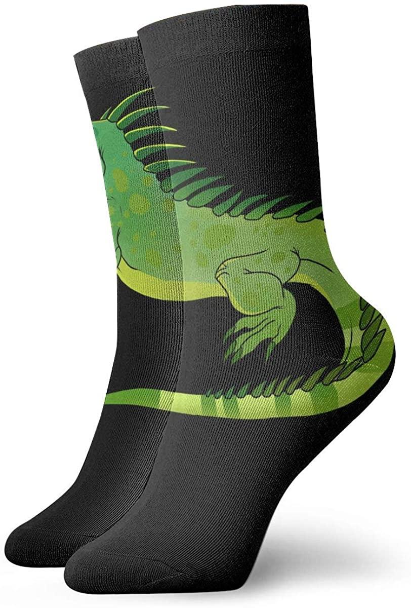 Big Iguana Short Crew Socks Athletic Tube Socks For Men Women