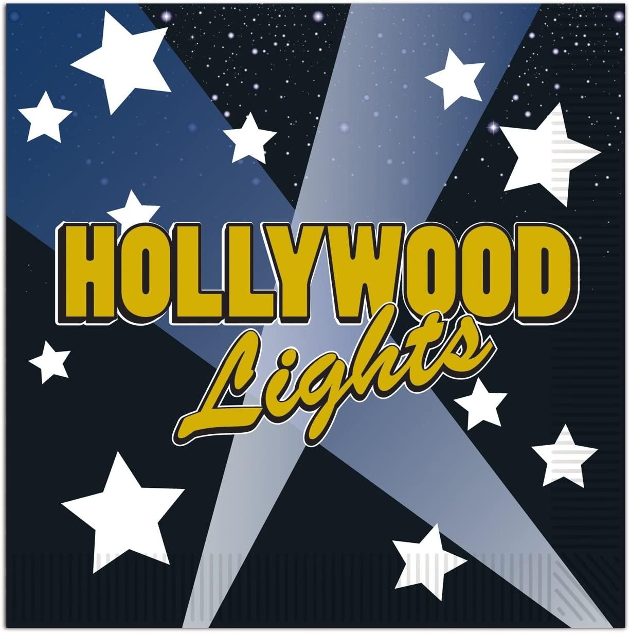 Hollywood Lights Beverage Napkins (2-Ply)    (16/Pkg)