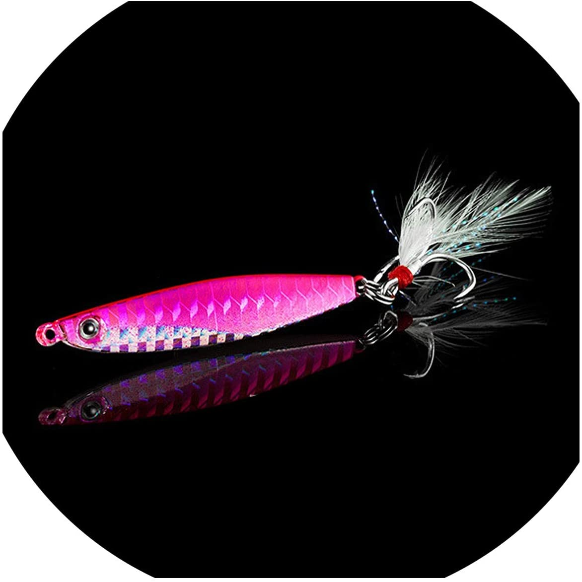 OH WHY Fishing Lure Spinners Spoon Bait Jig Silicone Bait Wobbler Squid Octopus Winter Sea Ice Fishing Minnow7 14 18 30g,J,6cm 14g