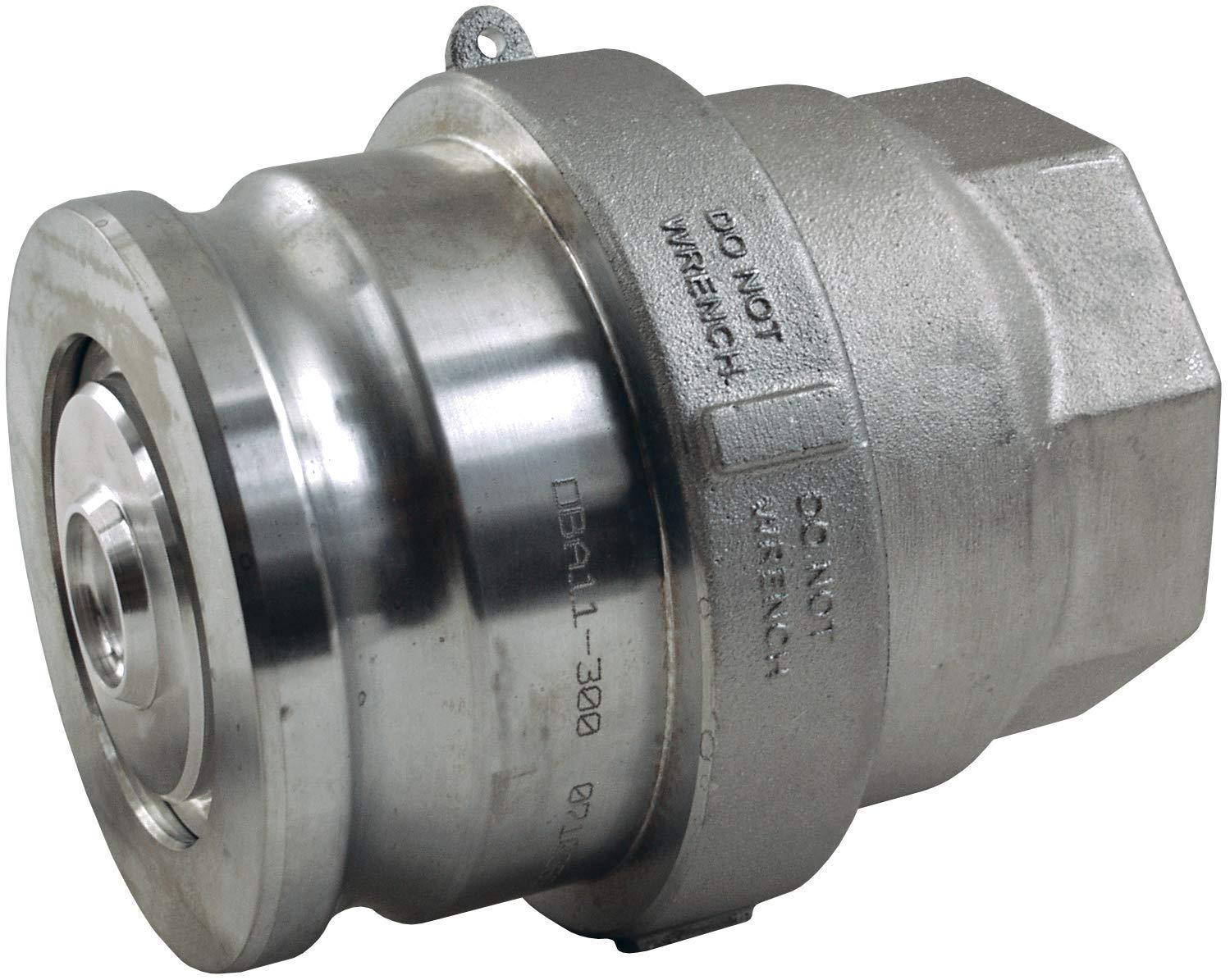 Dixon DBA67-200 2 Alum Dry Disconnet Adapter Encapsulated PTFE FKM Seals