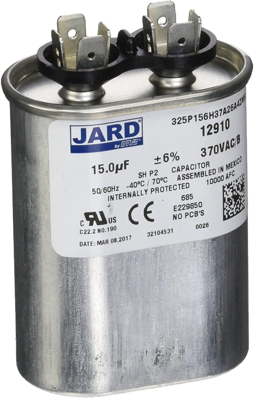 MARS - Motors & Armatures 12910 motor run capacitor, 370 volt, oval, 15 Micro-Farads