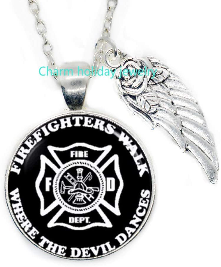 Charm holiday jewelry Best Gift for Firefighter,Fireman,Fire Family,Firefighter Necklace,Firemen Necklace,Gift for Firefighter-#349