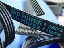 D&D PowerDrive 160J10 Poly V Belt, 10 Band, Rubber