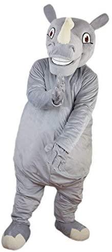 Grey Rhinocero Mascot Costume Cartoon Character Adult Sz Real Picture
