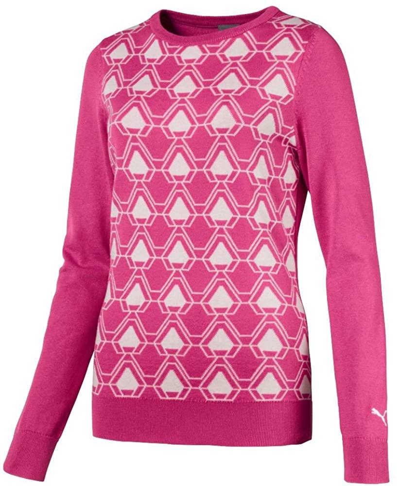 Puma Golf Womens 2018 Dassler Sweater, Medium, Carmine Rose