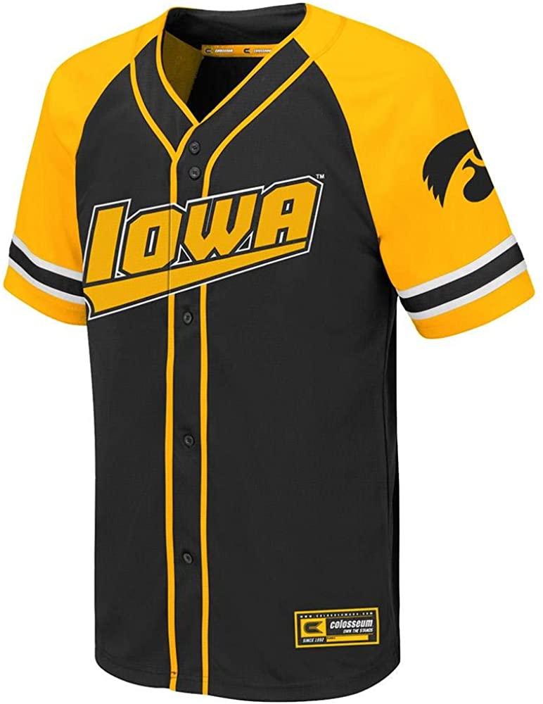 Colosseum Youth Iowa Hawkeyes Wallis Baseball Jersey