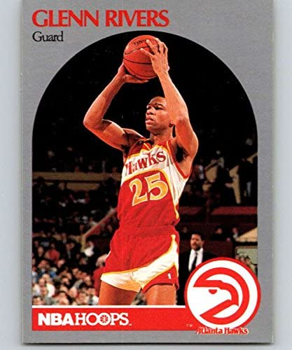 1990-91 Hoops #32 Doc Rivers Hawks NBA Basketball