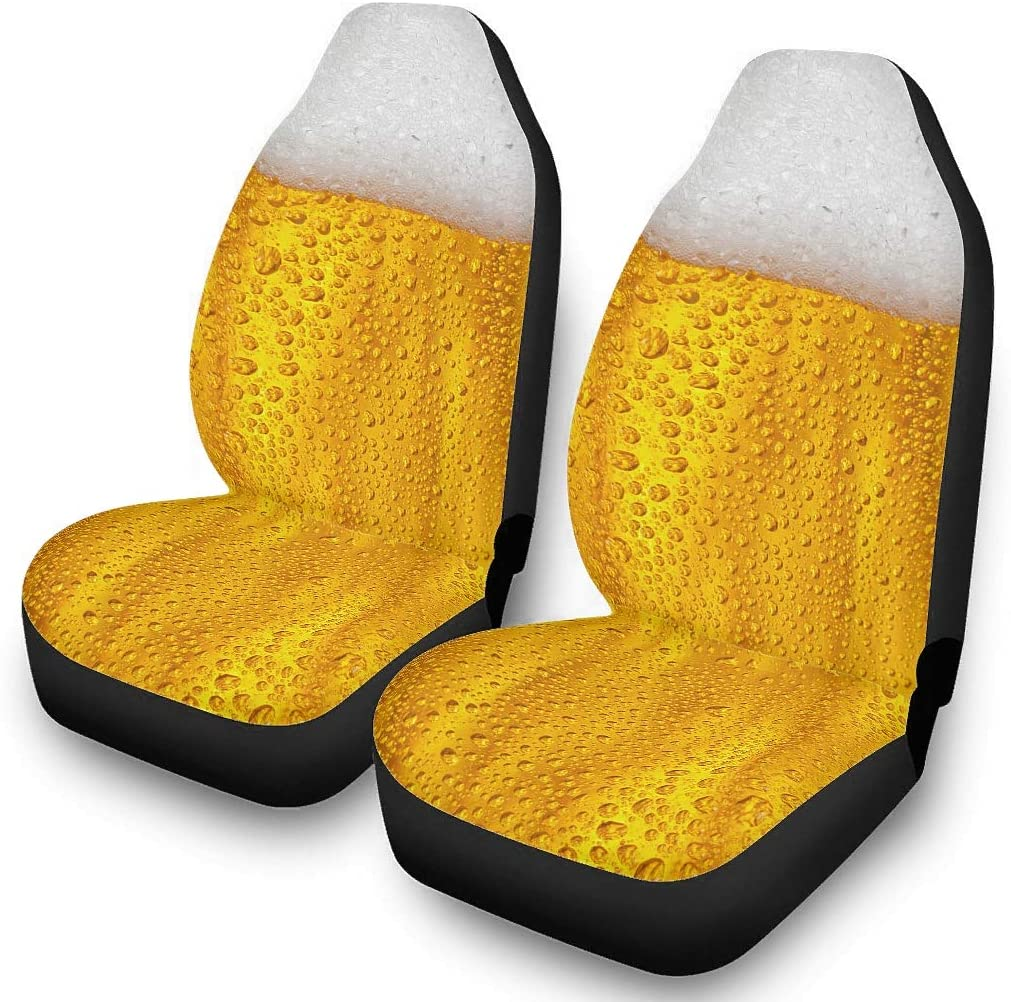 Seat Cover for Cars Beer Universal Anti-Slip Car Seat Cover Protector Cushion Universal Fit Pattern Front Seat Covers
