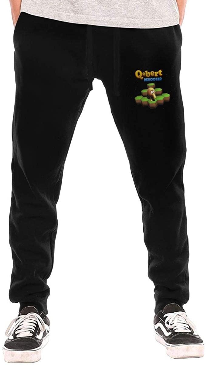 Men's Q-Bert Sports Casual Pants Black