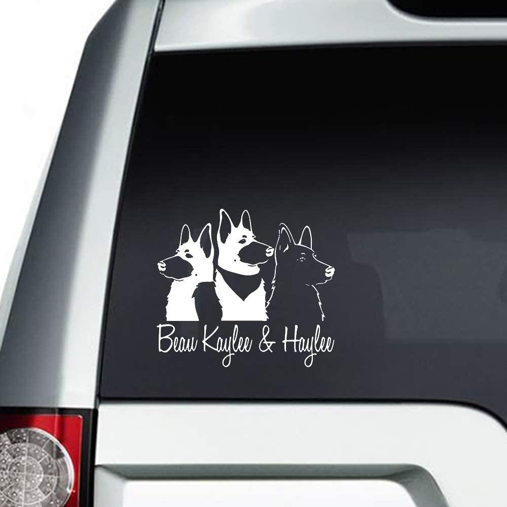 N/ A German Shepherds Customize Names Vinyl Sticker Graphic Bumper Tumbler Decal for Vehicles Car Truck Windows Laptop MacBook Phone Wall Door
