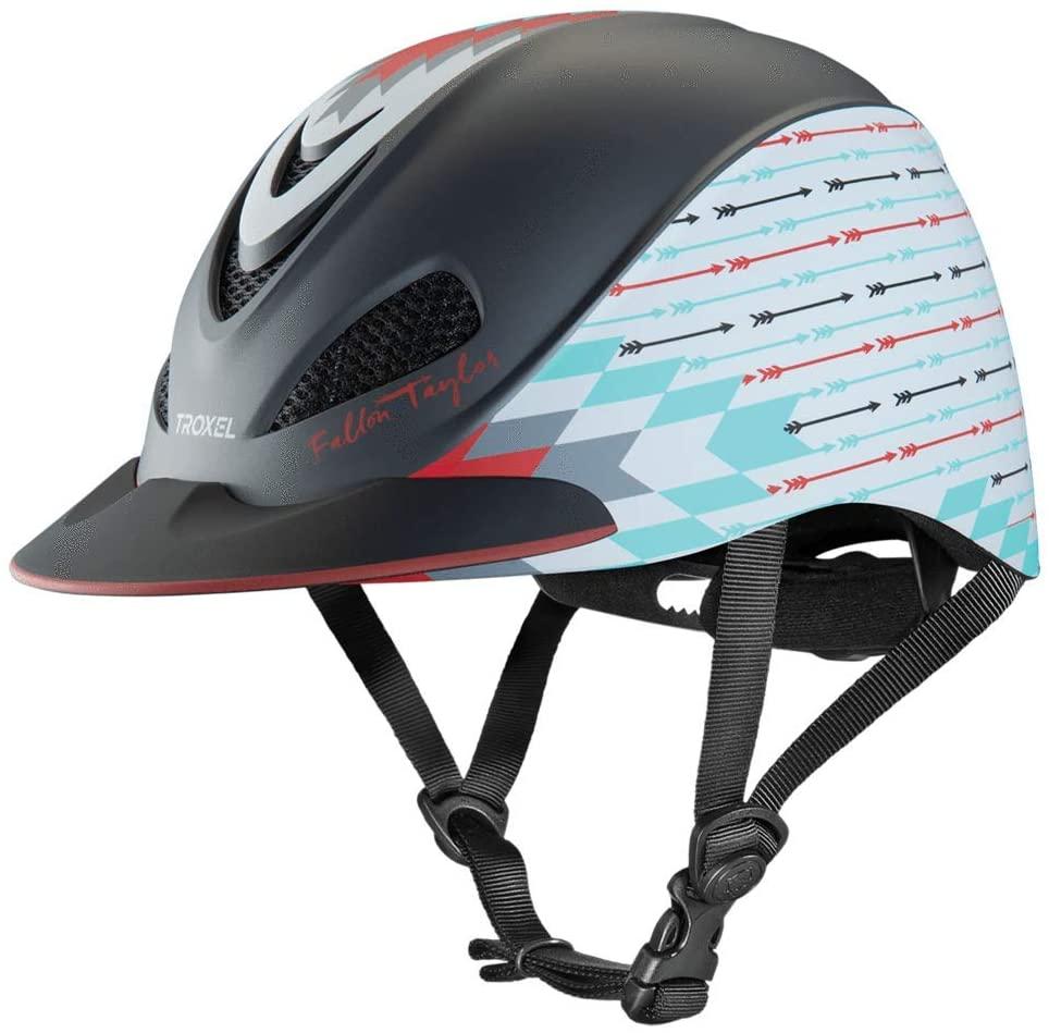 Troxel Fallon Taylor Grey Firestorm Horse Riding Western Helmet Low Profile Adjustable