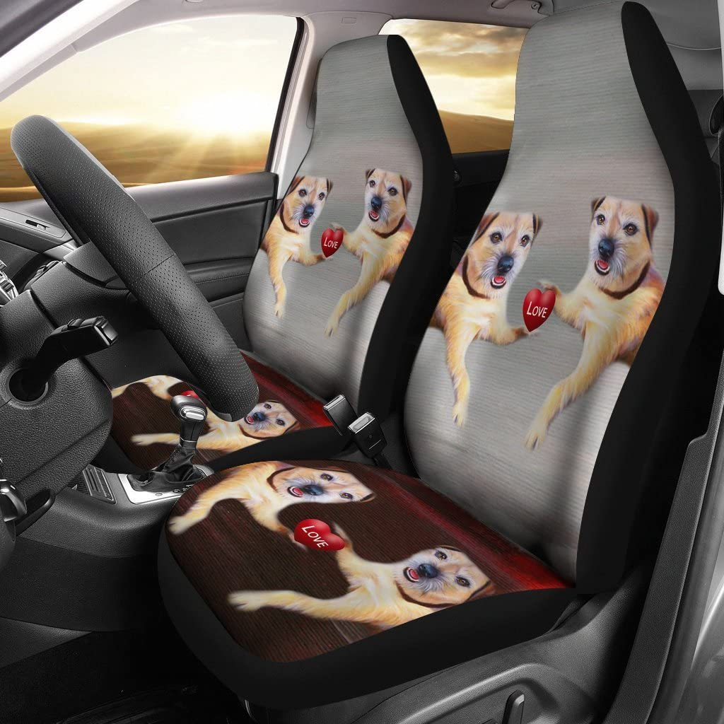 Great Breed Store Border Terrier Print Car Seat Covers