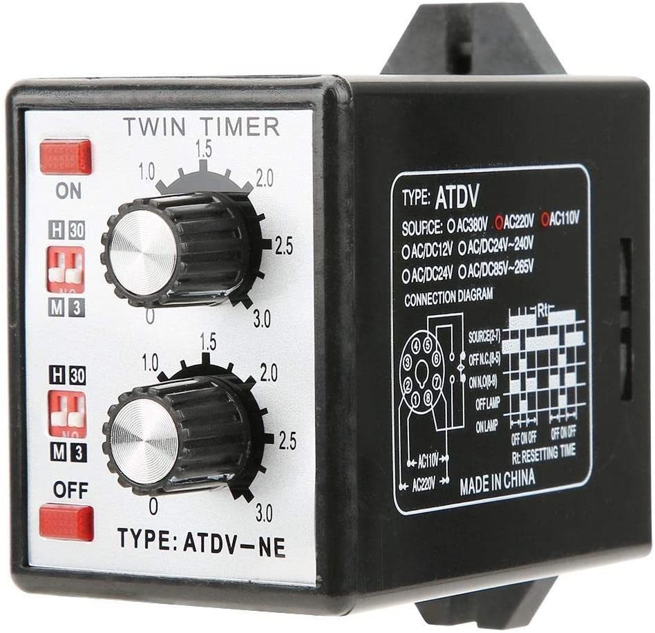 Beennex Knob Control Time Switch Relay On Off Timer Relay Multi-Section ATDV-NE AC110V/220V